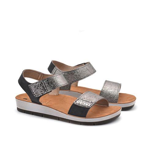 Sandalo donna in pelle sintetica