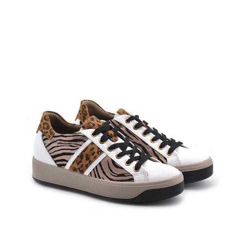 Sneaker donna in vera pelle