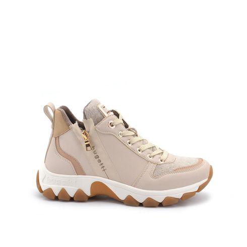 Sneaker alta con zip donna
