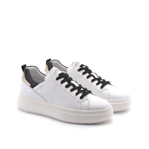 Sneaker da donna in vera pelle