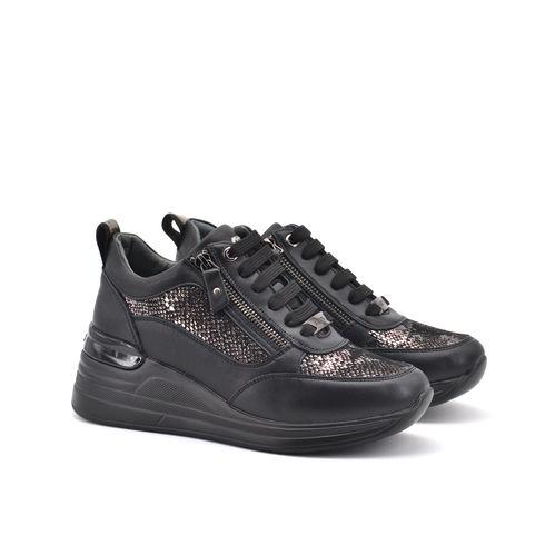 Sneaker da donna con doppia zip