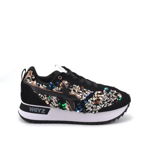 Kis W sneaker donna pelle e paillettes