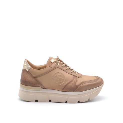 Sneaker in vera pelle da donna