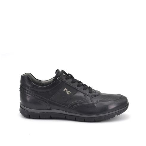 Sneaker da uomo in vera pelle con zip