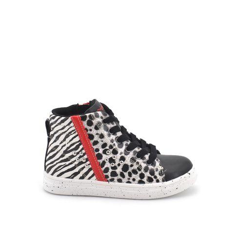 Sneaker alta da bimba con zip