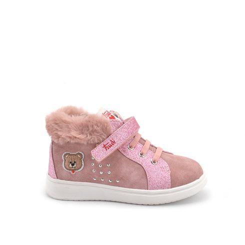 Sneaker alta da bimba con glitter