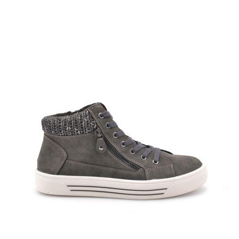 Sneaker alta da donna con zip