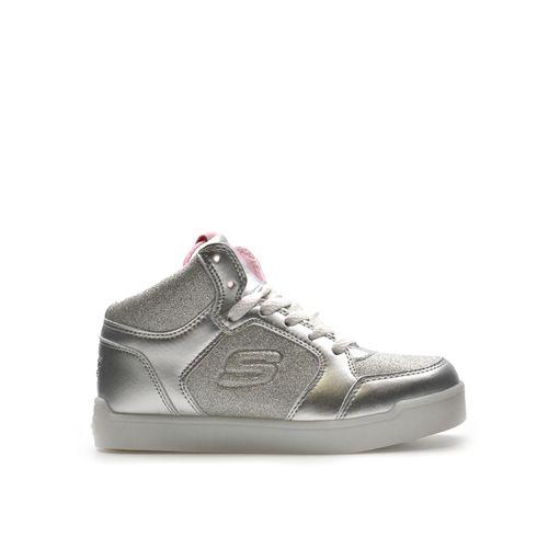 Sneaker alta da bimba con luci Skechers