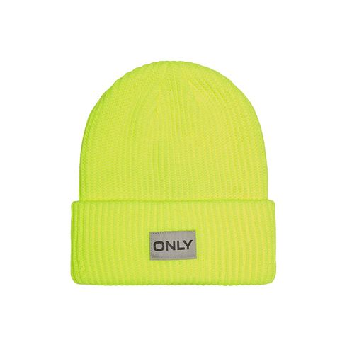 Only Petunia Neon Ribbed Beanie