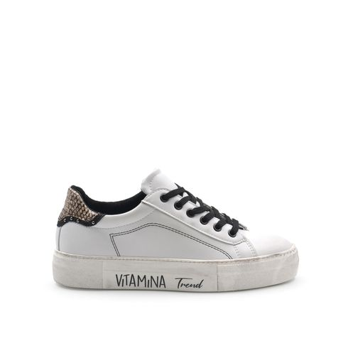 Sneaker da donna pitonata