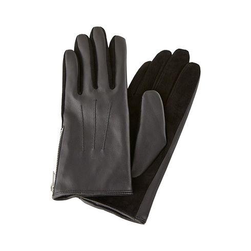 Pieces Harper Leather Gloves guanti