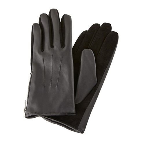 Pieces Harper Leather Gloves guanti