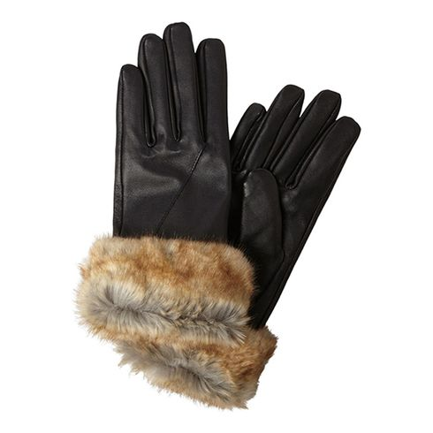 Pieces Chika Leather Glove guanti donna