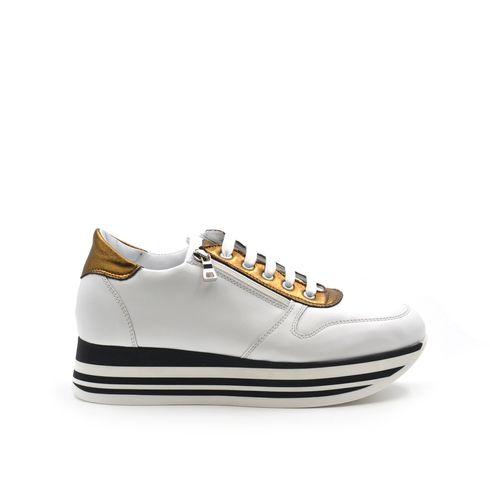 Sneaker platform da donna in vera pelle