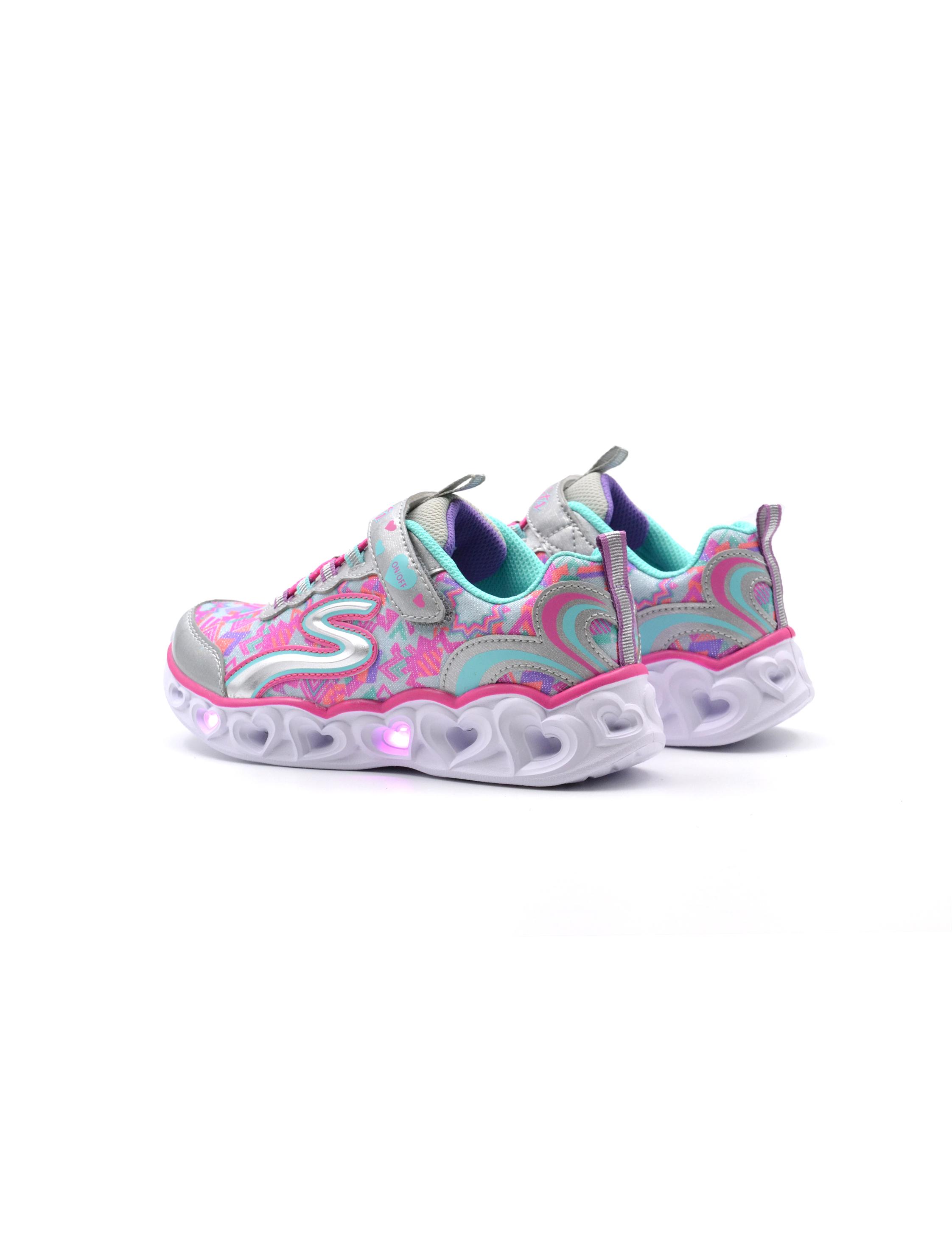 Sneaker da bimba con luci skechers, Sneakers, colore Navy