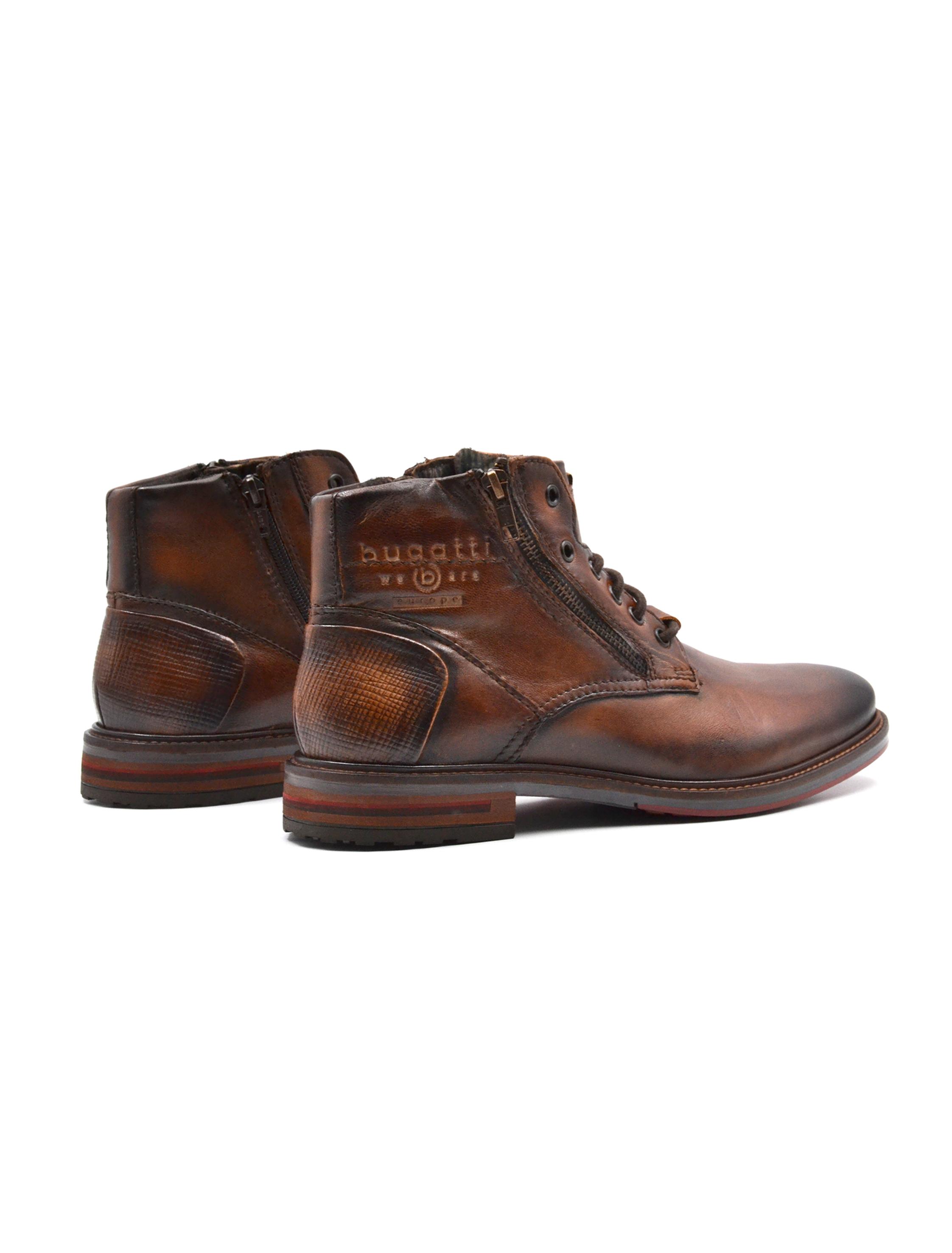 scarpe temperamento grandi affari 2017 a basso prezzo Bugatti scarponcino uomo in pelle zip, Scarponcini, colore Cognac ...