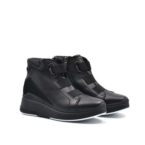 Igi&Co sneaker alta donna in pelle zip