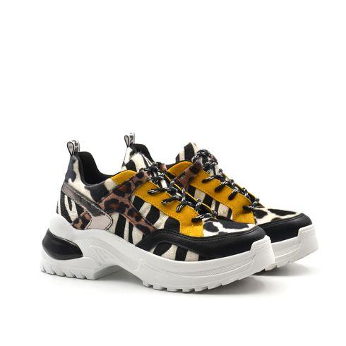 Sneaker da donna zebrata